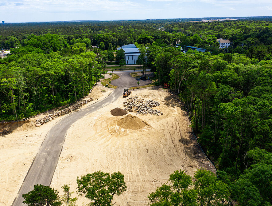 Yarmouthport Easy Street Lot 1 Rear lengthwise aerial