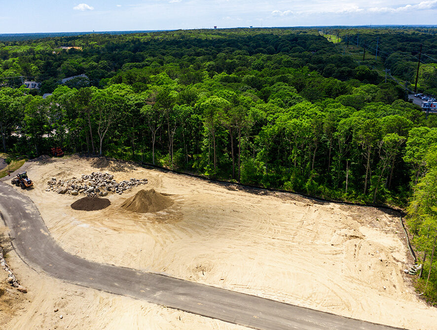 Yarmouthport Easy Street Lot 1 lengthwise aerial